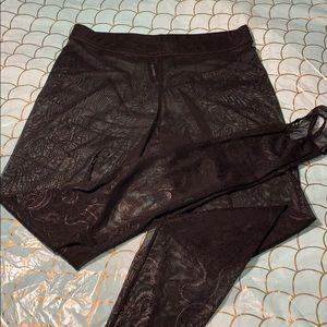 Black Milk Clothing Tatsu Black Stirrup Hosiery 🐉